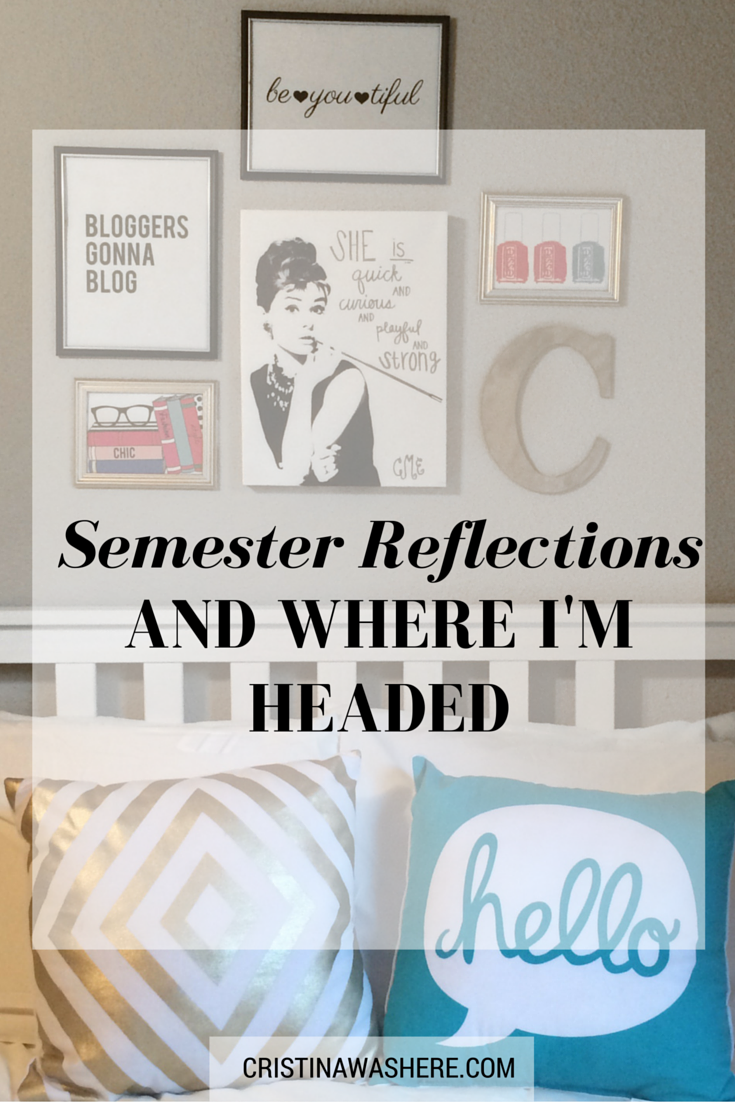 Semester Reflections + Where I'm Headed