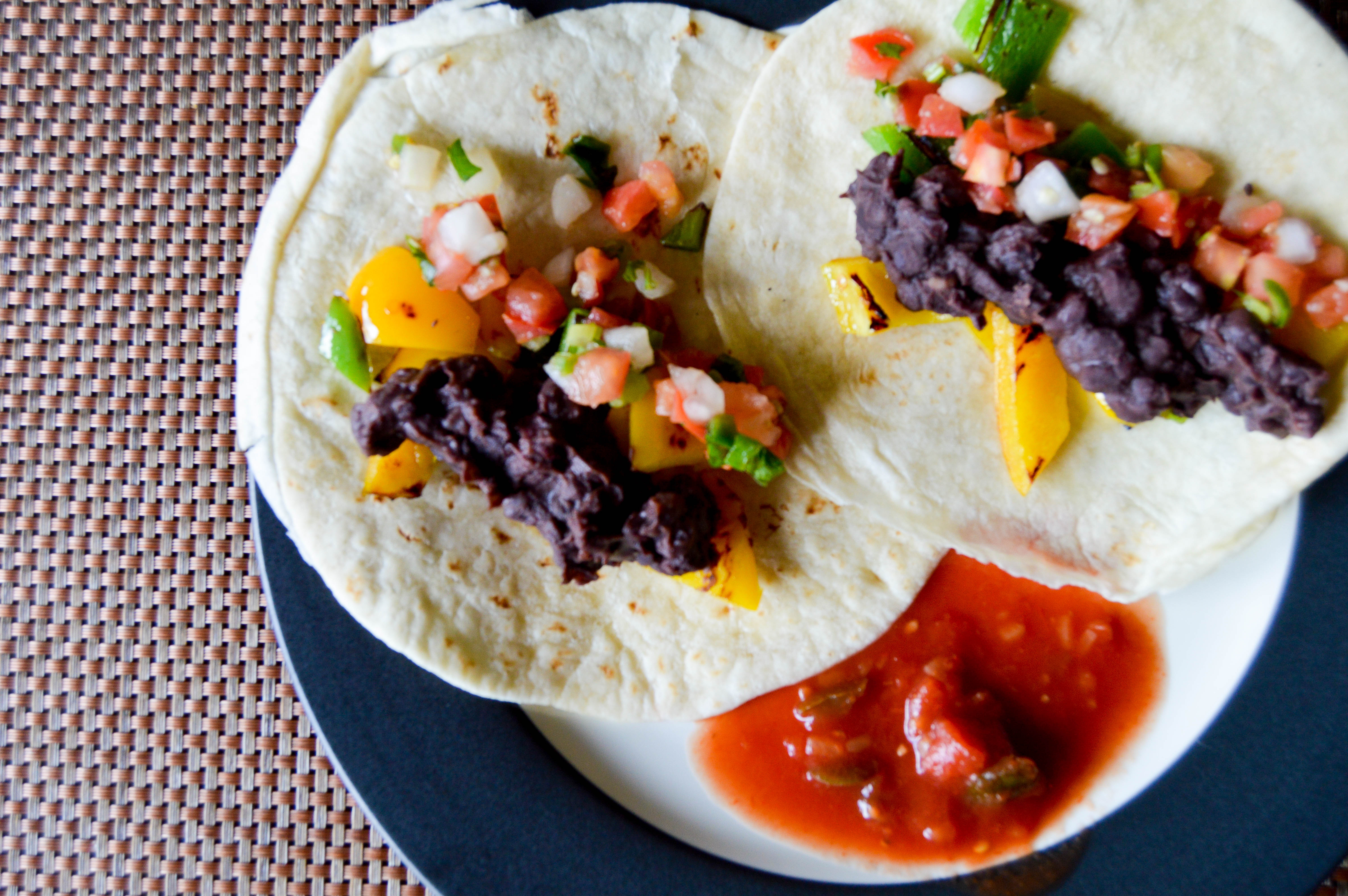 recipe for veggie tacos, healthy lunch ideas