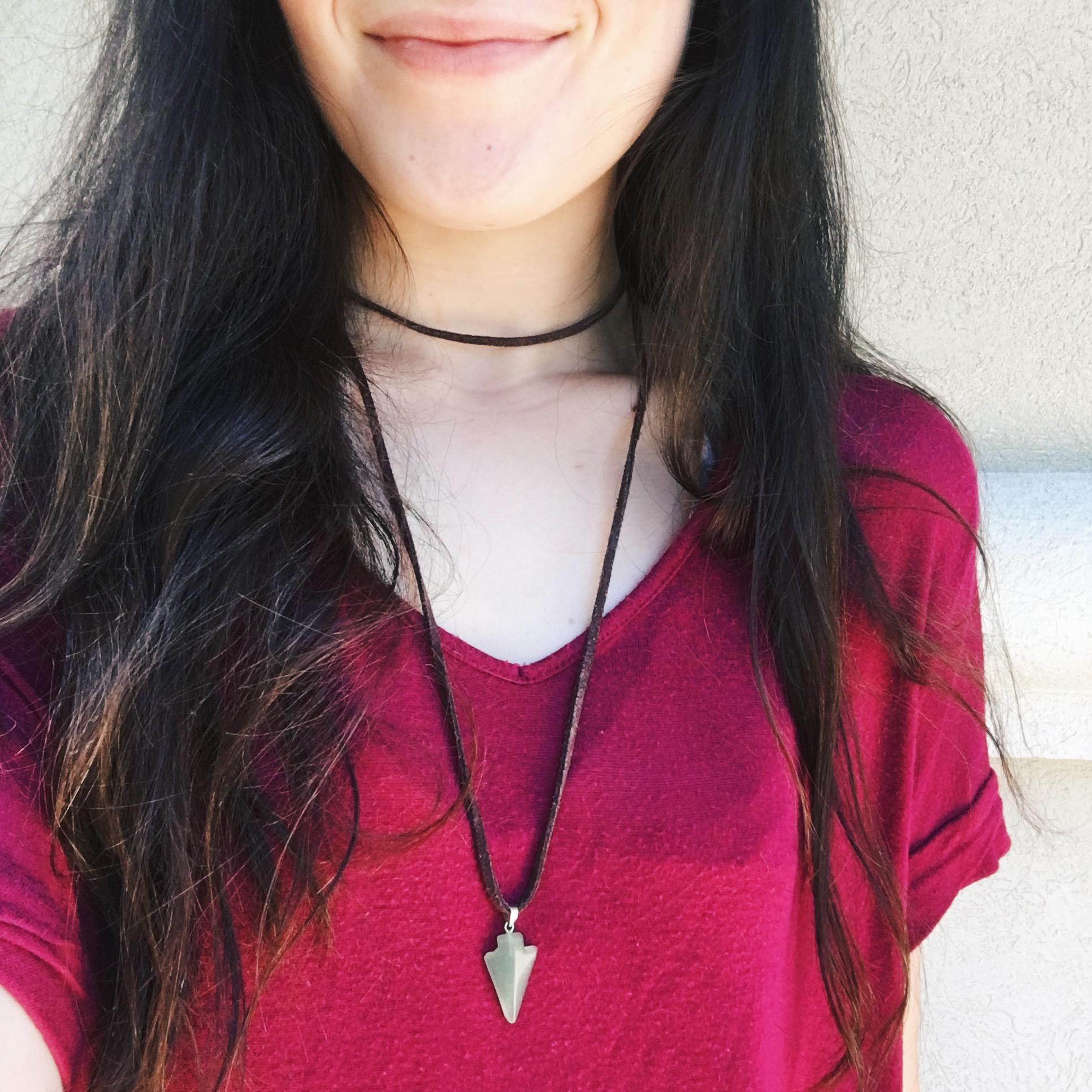 handmade jewelry, double wrap necklace
