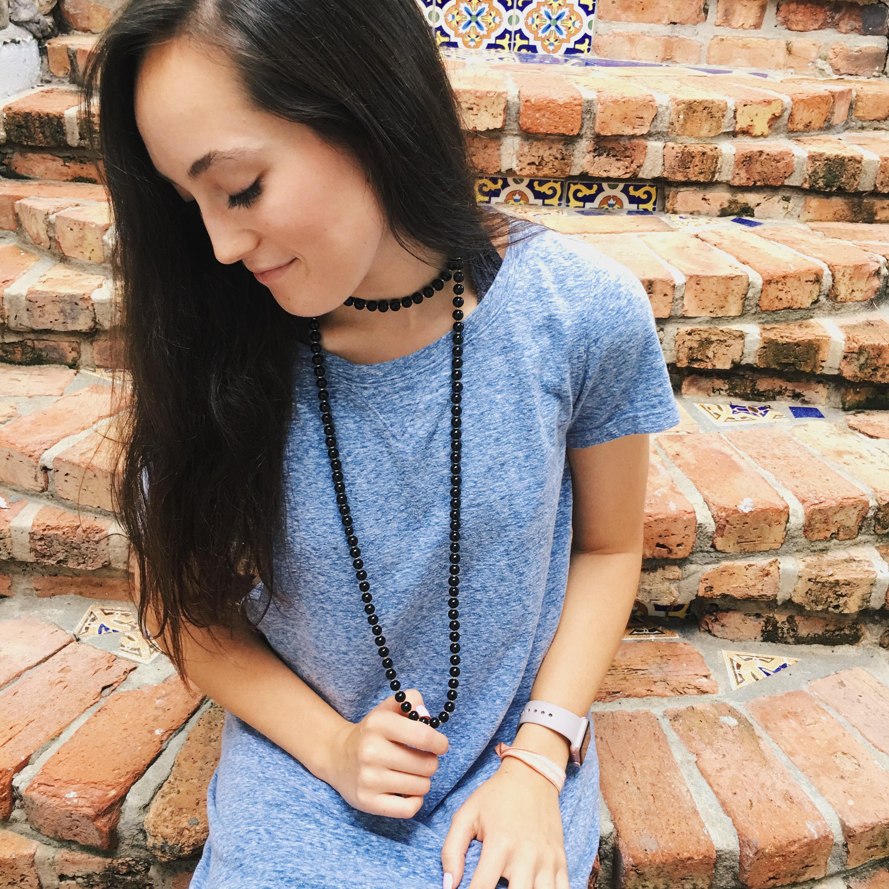 handmade jewelry etsy, double wrap necklace