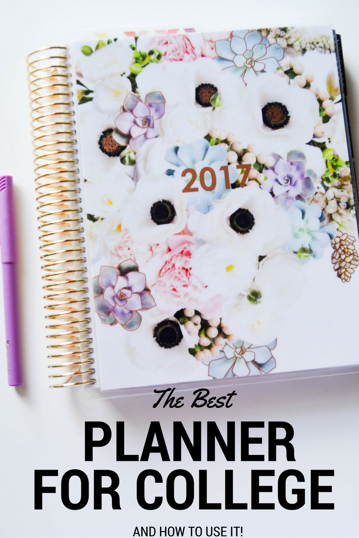 The Best Planner for College Students + How to Use It