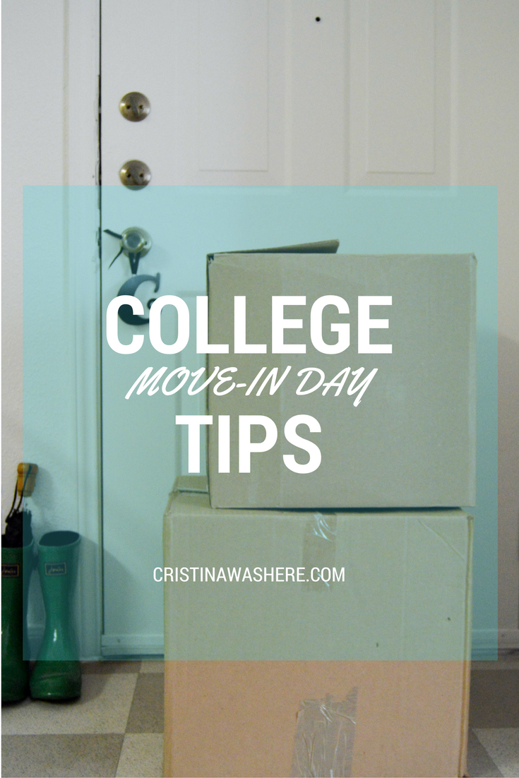 College Move-In Day Tips