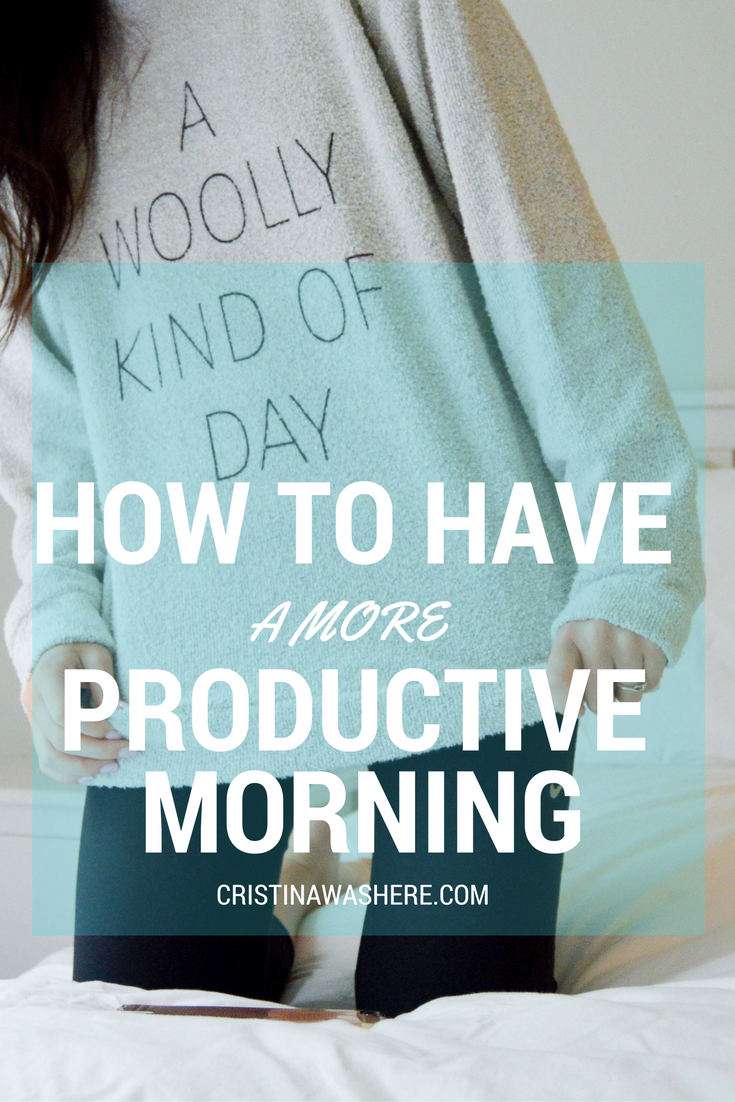 How To Have a More Productive Morning (with Woolly Threads!)