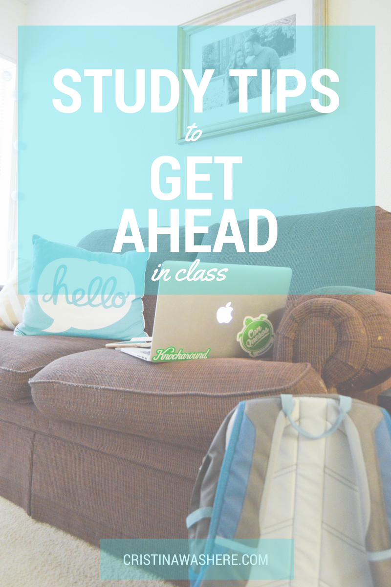 Study Tips to Get Ahead in Class