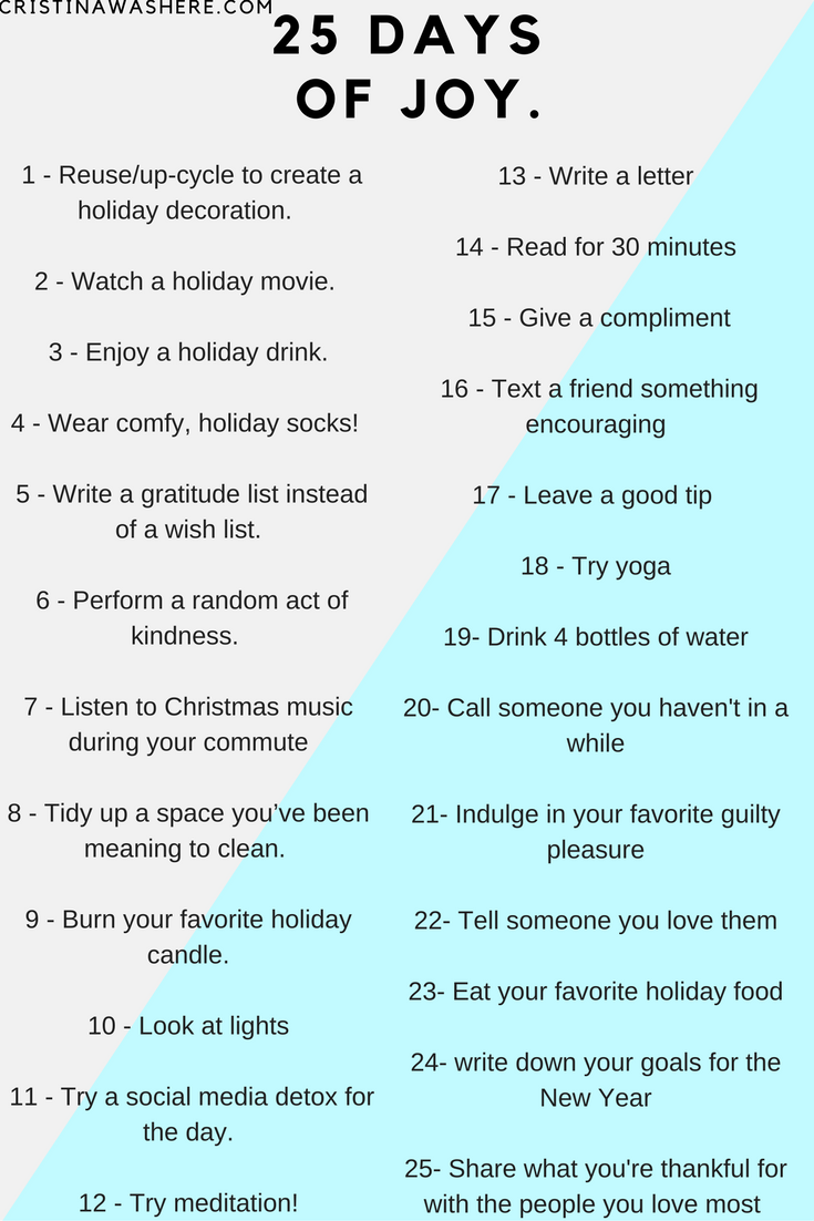 25 days of joy