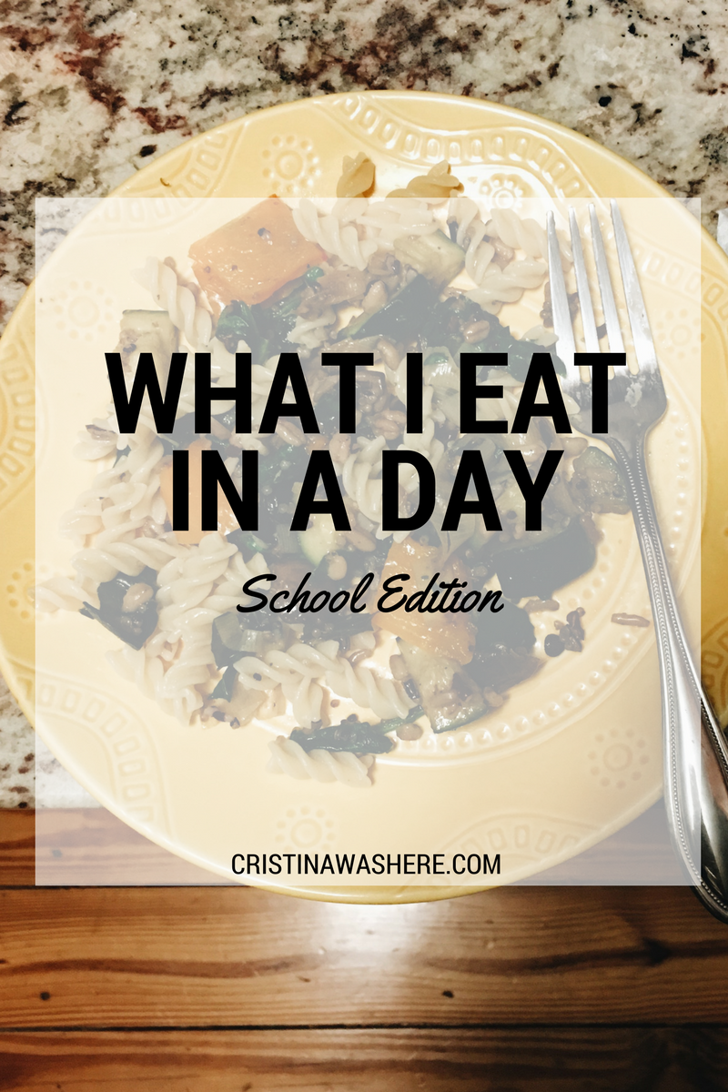 What I Eat In a Day: School Edition