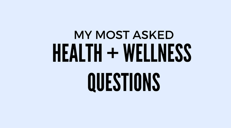 health and wellness faq's