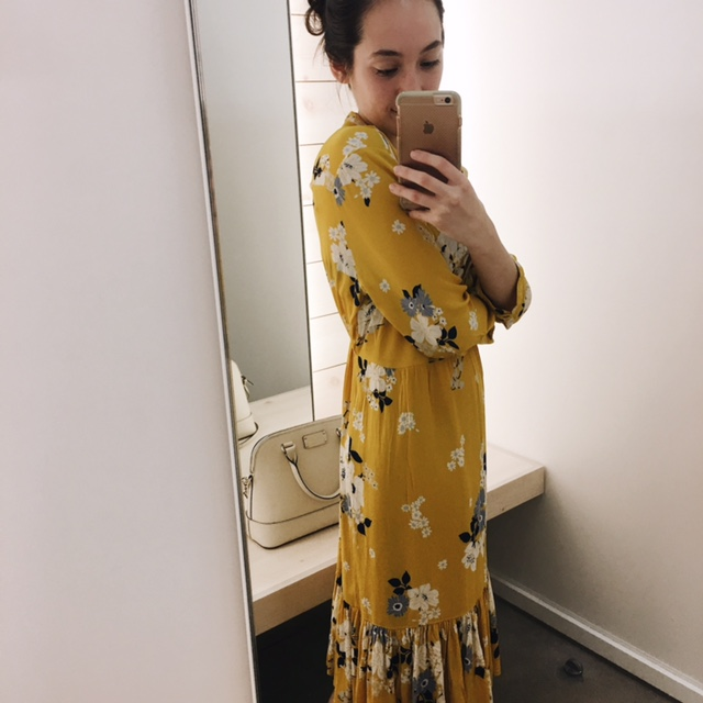 old navy floral print dress