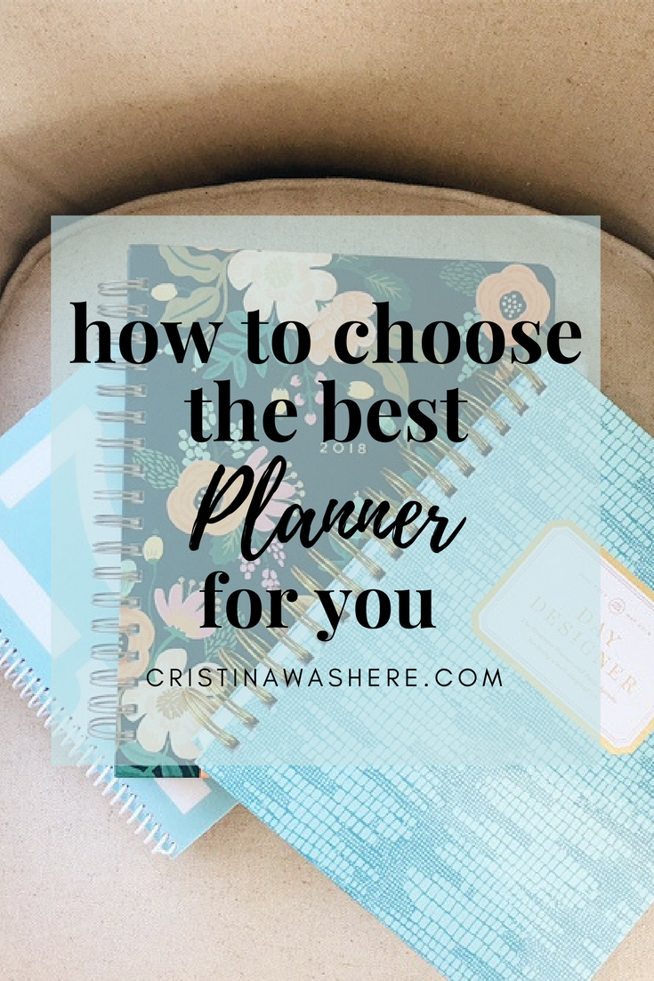 How To Choose The Best Planner For You